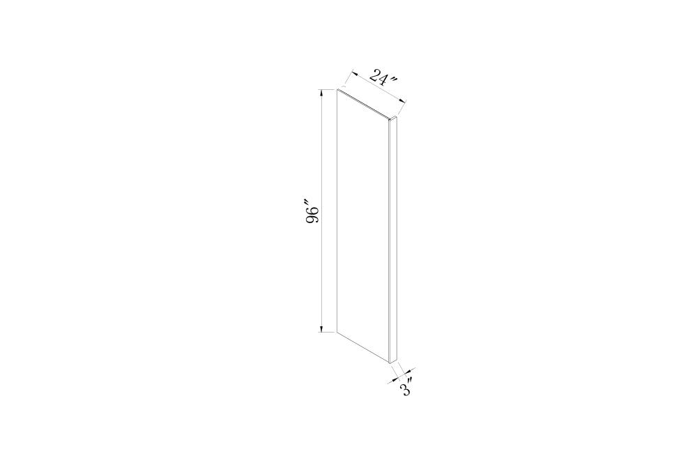 PANELS & FILLERS - 3 Width Refrigerator End Panel