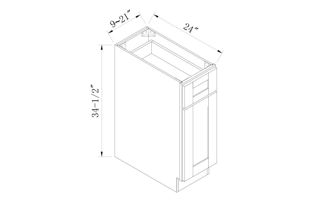 BASE CABINETS - 12 Width Single Door Base Cabinets