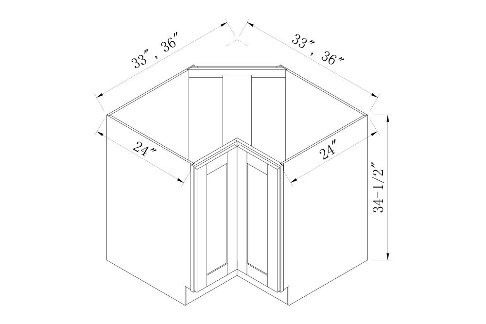 BASE CABINETS - 33 Width Lazy Susan Base Cabinets