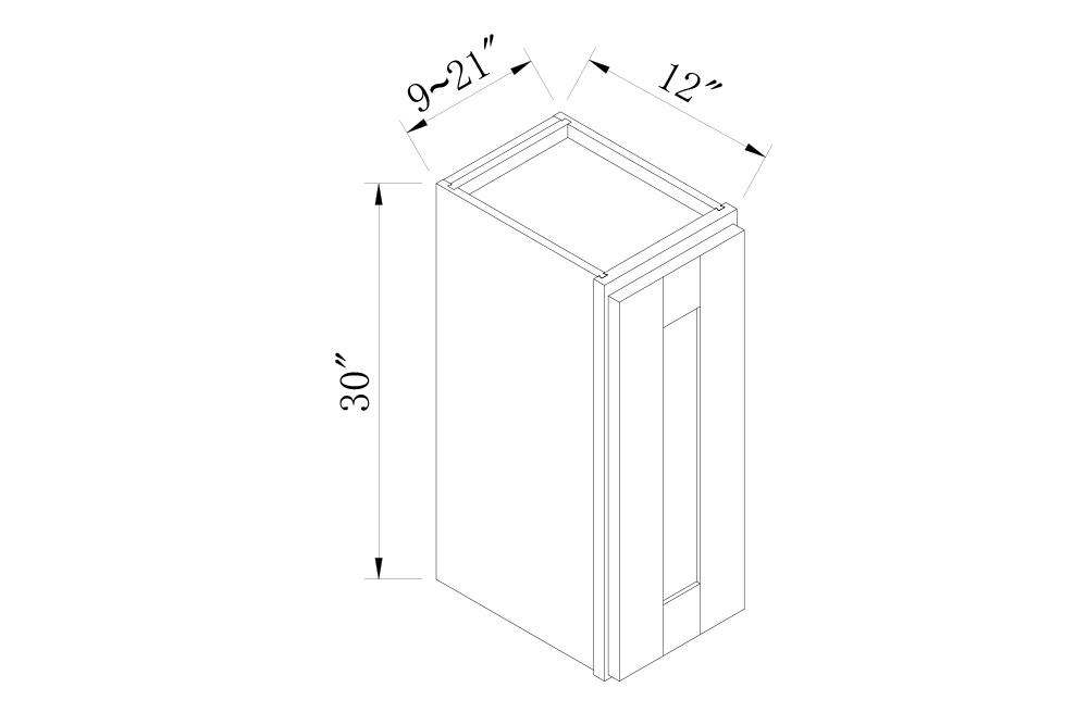 WALL CABINETS - 12 Width 30 High Single Door Wall Cabinets