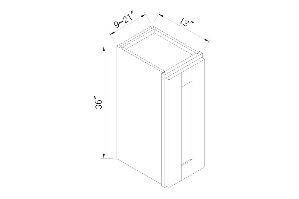 WALL CABINETS - 9 Width 30 High Single Door Wall Cabinets