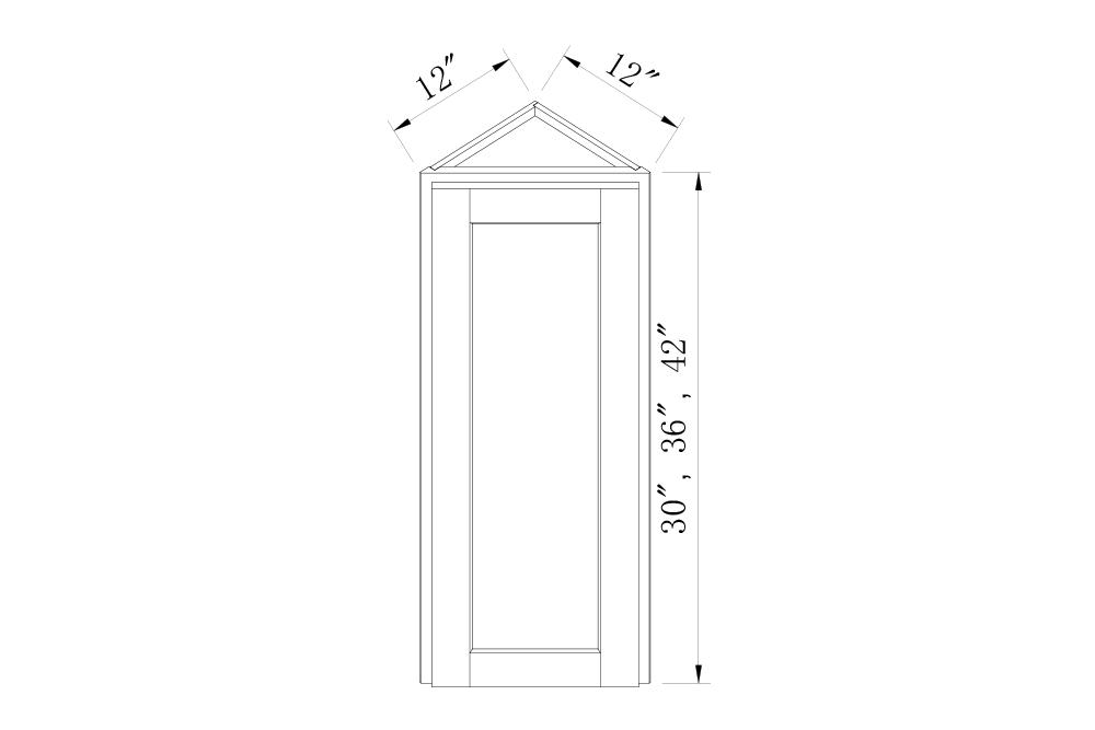 WALL CABINETS - 30 High Angle Wall Cabinets